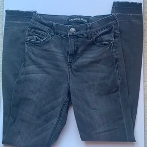Express Jeans - 2x$20- Mid rise distressed gray  jeans